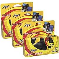 Novocolor - Cámaras deshechables con Flash (27 exposiciones con Flash) 3 Unidades