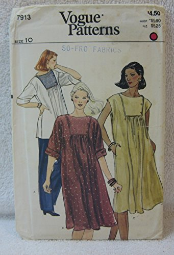 Vogue Pattern 7913 - Misses Maternity Tunic or Dress (Size 10)