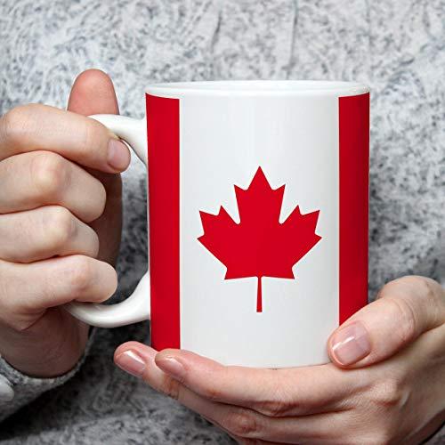 Geschenk Tasse mit Flagge Kanada Länder Flaggen Geburtstagsgeschenk Souvenir Canada für Reiseliebhaber Frauen Männer