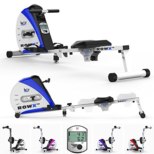 We R Sports Premio Canottaggio Macchina Corpo Tonner Casa Vogatore Fitness Cardio Allenamento Peso Perdita (Blu)