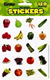 Eureka Fruits and Vegetables Photos Stickers