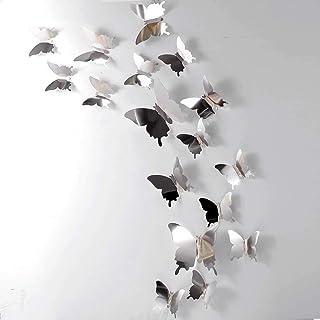 RuiChy 48 pcs 3D Papillon Stickers Muraux Amovibles Papillons Stickers Muraux DIY Décoratif Mur Art Artisanat pour La Mais...