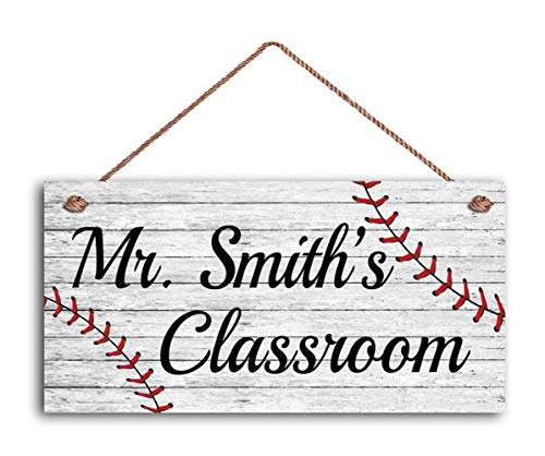 teacher sign for doors WEIMEILD Teacher Personalized Gift, Teacher's Name Classroom Door Sign, Teacher Sign, Teacher End of Year Gift