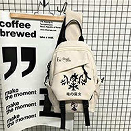 Qiqioog Juana de Arco, Fate Grand Order White Shoulder Messenger Bag Mochila, Nylon de Gran Capacidad Impermeable, Fácil de Limpiar, Fuerte, Resistente al Desgaste Durable, Hombre Mujer Estudiantes