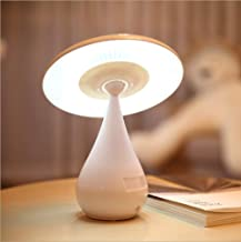 Yunjie Mushroom Lamp Eye-Care Night Light LED Rechargable Desk Lamp, Health Anion Air Purifier Lamp, Touch Brightness Adjustment