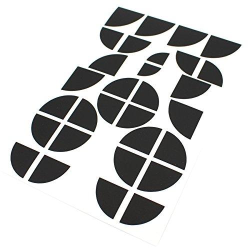 Finest-Folia Emblem Ecken Aufkleber Glanz (K004 Schwarz Matt)