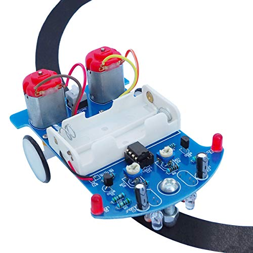Soldering Project kit Solder Learning Practice for School Electronic Education, Great Fun Gift for Electronics Hobbyists and Trainer (D2-5 Smart Car Kit)