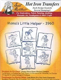 Mama's Little Helper Aunt Martha's Hot Iron Embroidery Transfer