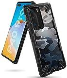 Ringke Fusion-X Diseñado para Funda Huawei P40 Pro (2020), Transparente al Dorso Carcasa Huawei P40 Pro (6.58') Protección Resistente Impactos TPU + PC - Camo Black