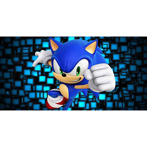 ymxwmy Full Square Drill DIY 5D Diamond Painting Wall Sticker Game Sonic The Hedgehog Handmade Cross Stitch Embroidery Patterns Mosaic 40 x 50 cm