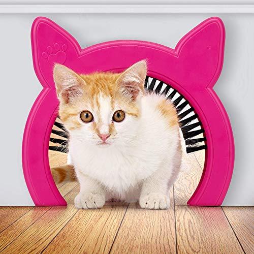 Pawsm Innentür für Katzen, Katzentür verbirgt Katzentoilette, Katzentür mit Bürste, passend für Katzen bis zu 9 kg