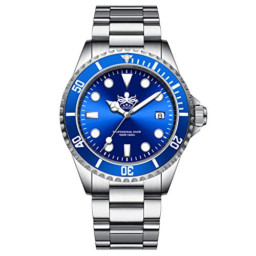 Phoibos PX002B Men Dive Watch Swiss Quartz Blue