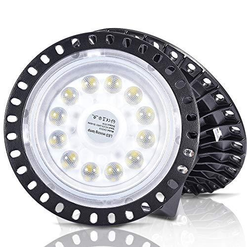 UFO - Lámpara industrial LED, UFO LED, 6000-6500 K, luz blanca fría, ángulo de haz de 120°, IP65, resistente al agua, SMD2835, para garaje Factory Workshop Gym, Luz blanca fría, 50W