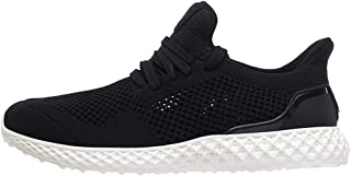 ZUAN Athletic Shoes for Men Sports Shoes Lace Up Style Mesh Material Elastic Bottoms Unadulterated Colors Empty