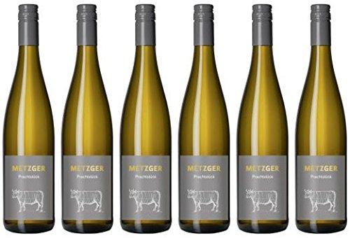 Metzger Prachtstück Weissburgunder Chardonnay Cuvée Weißwein Wein trocken Deutschland aus der Pfalz (6x0,75)