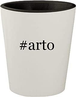 #arto - White Outer & Black Inner Hashtag Ceramic 1.5oz Shot Glass