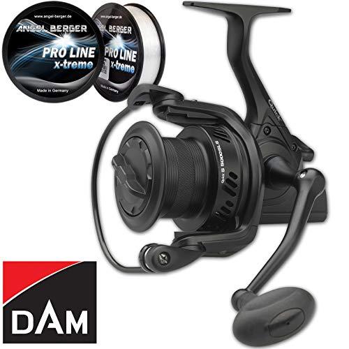 Dam Quick 5 SLS FD Karpfenrolle Angelrolle gratis Pro Line x-Treme Schnur (5000)