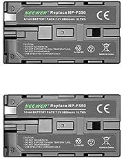 Neewer® (2 stuks) 7.4V 2600mAh oplaadbare Li-ion batterij batterij voor Sony NP-F550/570/530, compatibel met Sony HandyCams, Neewer Nanguang CN-160, CN-216, CN-126 serie LED Light en Chromo Inc., Polaroid andere LED on-camera videolicht, videoverlichting met NP-F550 batterijen