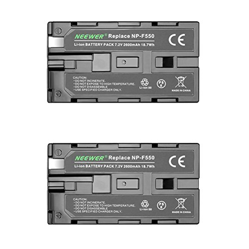 Neewer® Batería de Repuesto para Sony HandyCams, Neewer Nanguang CN-160, CN-216, CN-126 Series y Otras Luces LED de vídeo Que utilizan NP-F550