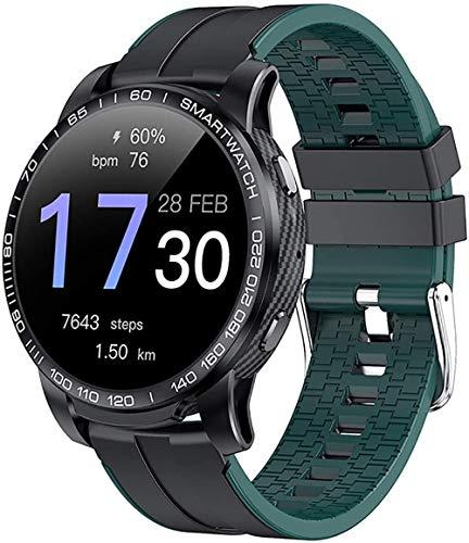 Smart Watch Bluetooth Chiamata Impermeabile Sport Fitness Orologio Salute Tracker Tempo Gioca Musica Orologio Intelligente Donna-Verde