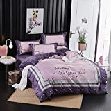 Juego de Cama Teddy Fleece, Falais Thick Warm Linen Quilt Cover Bedding, Fleece Duvet Set Double, King Size Duvet Cover, Single Duvet Cover Set@Super Rey_N