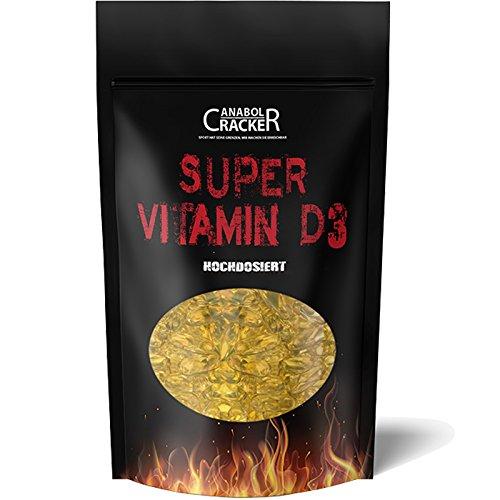600 Kapseln - Super Vitamin D3, Hochdosiert, Premium Qualität, Immunsystem, Zellfunktionen - Muskelaufbau