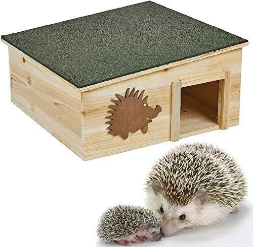 JKC Igelhaus aus Holz, abnehmbar, regendicht, Natur, Überwinterungsbox, Gartenunterschlupf, Heim, Nistbett
