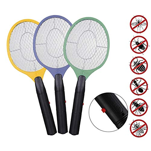 YYBF 3 PCS, Bug Elettrico Schiacciamosche Batteria Cordless Electric Power Mosca Zanzara Swatter Bug Zapper Racket Insetti Killer