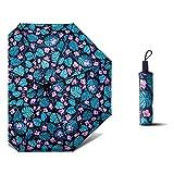 NKJH Attrezzature Uscita La Signora Anti-Vento e Pioggia a duplice Uso Aumentano l'ombrello Anti-UV di Protezione Solare in plastica Nera Pioggia di Attrezzi (Color : Black)