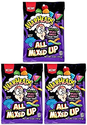 Warheads All Mixed Up Assorted Sour Candy Mix, 5 Ounces (Pack of 3)