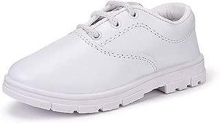 Onbeat Kids White School Shoe