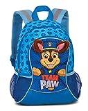 """Paw Patrol Kindergartenrucksack Jungen – Kinderrucksack für Jungen von 3-6 Jahren mit abstehenden Stoffohren und Chase Motiv von Paw Patrol """"Team Paw"""" – 35cm x 27cm x 15cm 6L blau"""