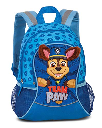 PawPatrol Boys' Nursery Backpack - Children's Backpack for Boys from 3-6 Years with Protruding Fabric Ears by PawPatrol 'Team Paw' - 35 cm x 27 cm x 15 cm 6L Blue
