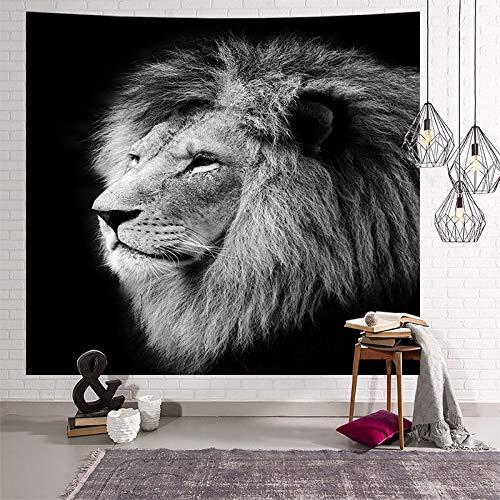 KHKJ Animal Gato Indio Tapiz Colgante de Pared Manta de Playa Cubierta de Cama de Yoga Funda de sofá león Leopardo Dormitorio decoración A8 200x150cm