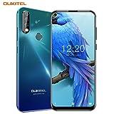 OUKITEL C17 Pro Dual 4G Smartphone Débloqué,Écran Perforé 6,35 Pouces,Trois Caméras Arrière,Android 9.0 Octa-Core 2.0GHz Téléphone Portable Pas Cher,4Go RAM+64Go ROM,3900mAh (4Go+64Go-Aurore Verte)