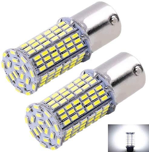 Cargo LED Extremely Super Bright 1156 1141 1003 1073 BA15S 7506 LED 144 SMD 3014 Replacement Light Bulbs 1400 Lumens,Used For Backup Reverse Lights 6000K Xenon White 12v-24v (Pack of 2)