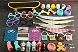lps Pet Shop lps Accessories(12pcs), lps Accessories Skateboard Bandanas Glasses Collars Drinks fit lps Cats and Dogs
