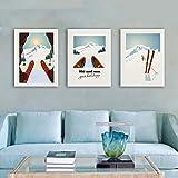 Huizheng Wintersport Skifahren Kunst Poster Leinwand
