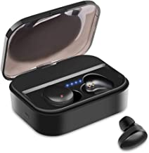 True Wireless Bluetooth Earbuds Waterproof in-Ear Wireless Headphones Microphone,3D Stero Sound,Long Battery Earphones with Charging Case…
