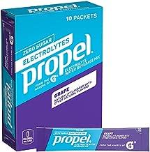 Propel Powder Packets Grape with Electrolytes, Vitamins and No Sugar (10 Count)