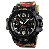 SKMEI Quartz Black Dial Analog Beige Band Men's Watch (SKM-M009)