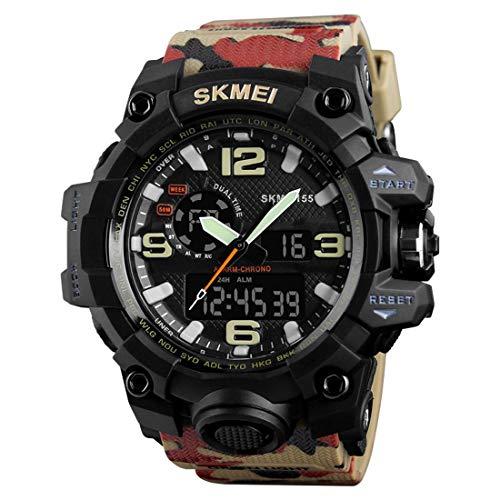 SKMEI Quartz Black Dial Analog Beige Band Men's Watch (SKM-M009)