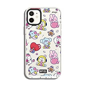 elago BT21 Hybrid Case Compatible with iPhone 11 6.1 Inch Durable Full Body Protection Raised Lip  Screen & Camera Protection  [Official Merchandise] 7 Flavors