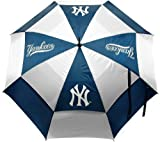 """Team Golf MLB New York Yankees 62"""" Golf Umbrella with Protective Sheath, Double Canopy Wind Protection Design, Auto Open Button,Navy"""