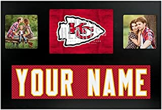 Kansas City Chiefs NFL Custom Jersey Nameplate and Logo Picture Frame
