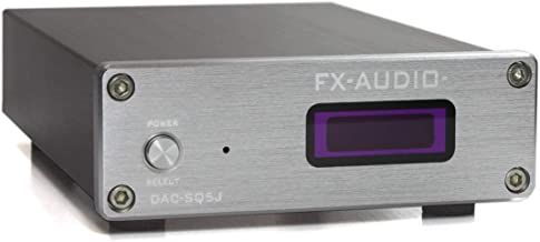 FX-AUDIO- DAC-SQ5J Burr-Brown PCM1794A搭載 ハイレゾDAC (シルバー)