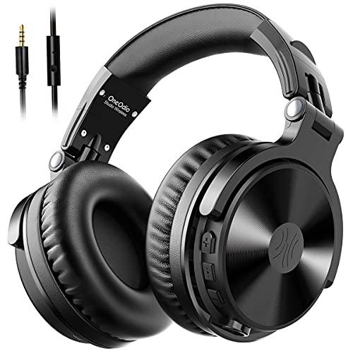 OneOdio Cuffie Bluetooth Wireless Over Ear Hi-Fi Stereo Audio, Cuffie con Microfono CVC 8.0 80 Ore Playtime, Cuffie Pieghevoli con Altoparlante al Neodimio da 50 mm per PC, Cellulare, TV, iPad