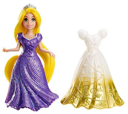 Disney Princesas Muñeca, miniprincesa Rapunzel con Vestido magiclip (Mattel X9411)