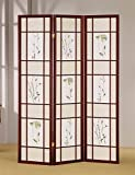 ADF 3-Panel Shoji Screen with Cherry Finish Frame by ADF