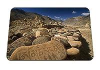 22cmx18cm マウスパッド (アジア山石パターンアート) パターンカスタムの マウスパッド